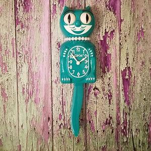 LAST 1! Emerald Green Lady KIT-CAT CLOCK KAT KLOCK